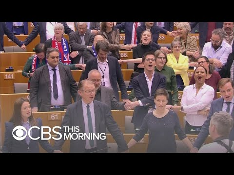Brexit emotions on display in EU parliament as U.K. formally pulls out