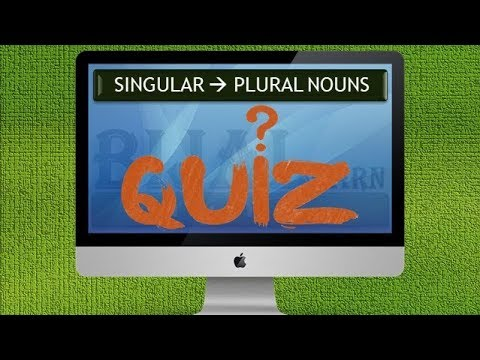 Singular And Plural Nouns Exercises With Answers | Singular Plural Nouns Quiz