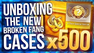 UNBOXING 500 OPERATION BROKEN FANG CASES (INSANE GLOVES)