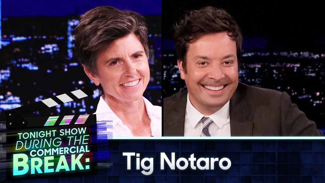 Tig Notaro and Jimmy Hug It Out During Commercial Break | The Tonight Show Starring Jimmy Fallon