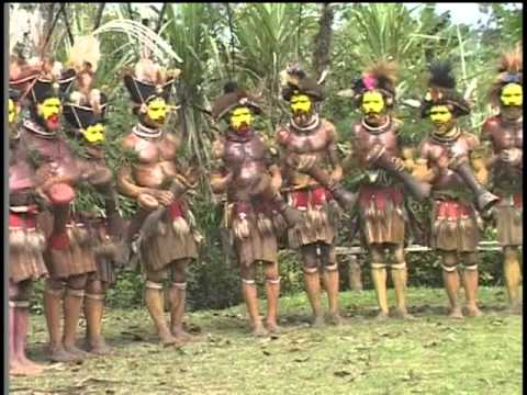 The Huli Wigmen of Papua New Guinea Dance and Sing