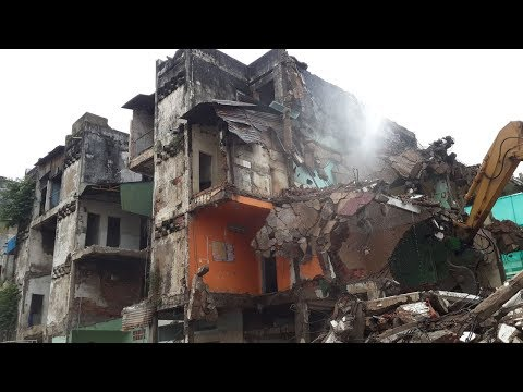 OMG ! Destroying White Building | Phnom Penh Cambodia | Asia Developing Country