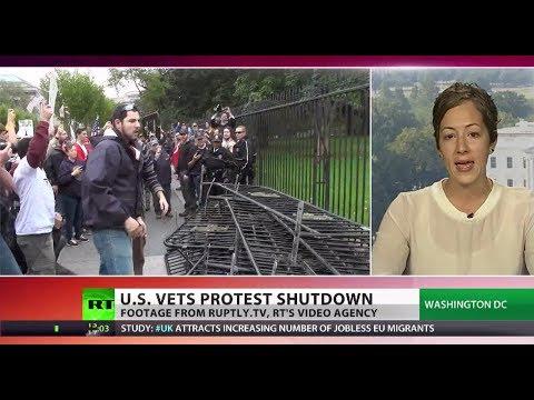 Vet Invasion: US ex-service personnel storm Washington amid shutdown