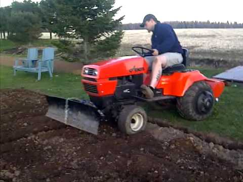 Rototiller on my Ariens GT20 YouTube