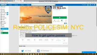 Roblox Police Sim NYC - How To Purchase Game Passes