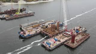 Строительство моста через Волгу со стороны Климовки часть вторая \морская\ от 25.09.2021