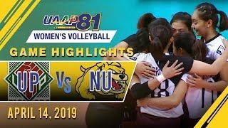 UAAP 81 WV: UP vs. NU   Game Highlights   April 14, 2019