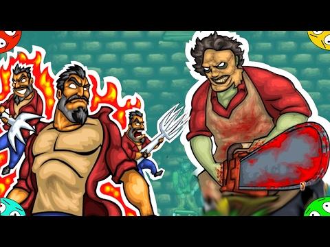 🐾 Текила зомби 3. #5. МАНЬЯК С ПИЛОЙ. Мультяшка игра про зомбиков. Tequila Zombies 3