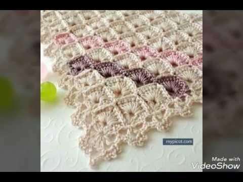 Punto abanico encajado en crochet paso a paso youtube - Mantas de crochet paso a paso ...