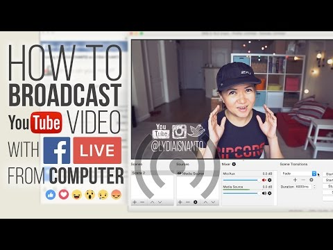 HOW TO BROADCAST a Video file to FACEBOOK LIVE from computer