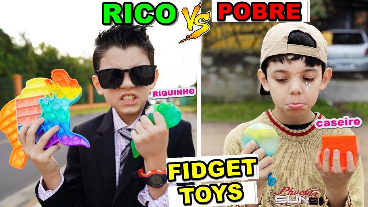 RICO VS POBRE - FIDGET TOYS POP IT