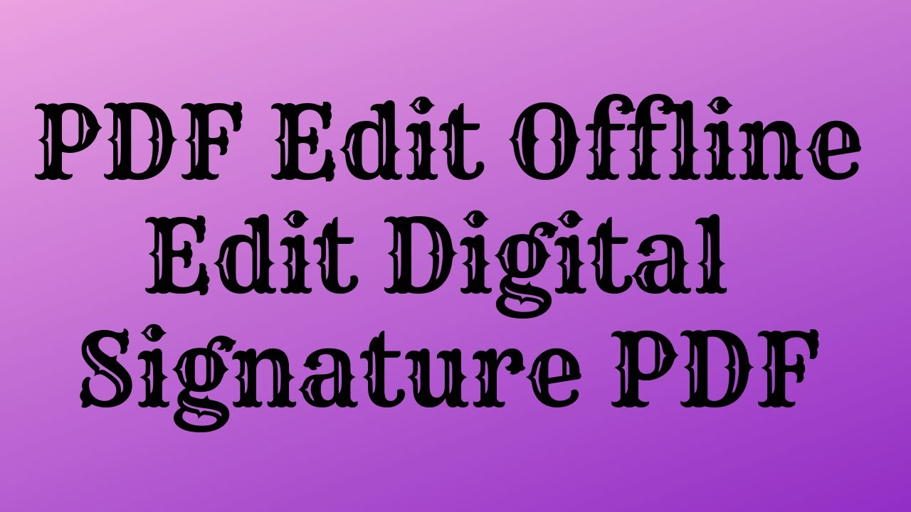 [Hindi]How To Edit PDF | How To Edit PDF With Digital Signature | Edit  Flipkart Invoice