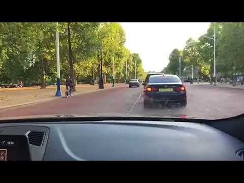 Driving up the Mall in London