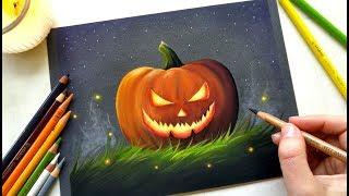 drawing an evil carved pumpkin halloween 2017 leontine van vliet