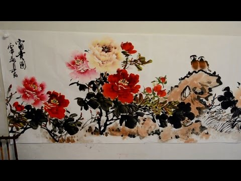 Chinese Watercolor Techniques: Painting flowes with Master Artist