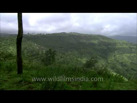 View of Krishna river valley from Parsi point, Panchgani