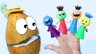 Песенка Семья Пальчиков Прыгающие Смайлики и Мистер Кокос Учим цвета Для детей