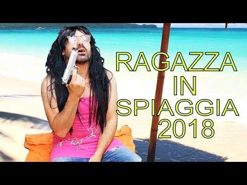 RAGAZZA ARMATA IN SPIAGGIA 2018 divertentissimo