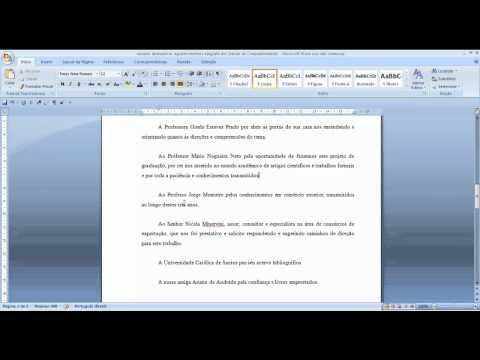 Видео Exemplo de dedicatória de monografia