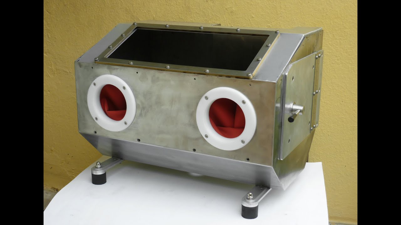 Homemade Sandblasting Cabinet With Integrated 2 5lt Pressure Pot Part 7 You