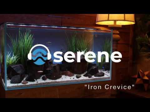 Iron Crevice Aquascape  - Serene LED Aquarium Light with Background Lighting