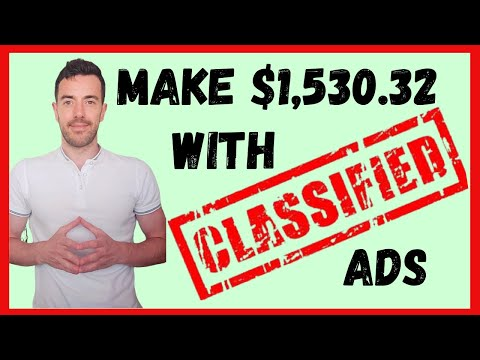 How To Make Money Using Classified Ads