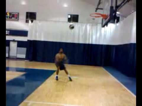 Robert Bush post practice dunk-ABA Chicago Steam