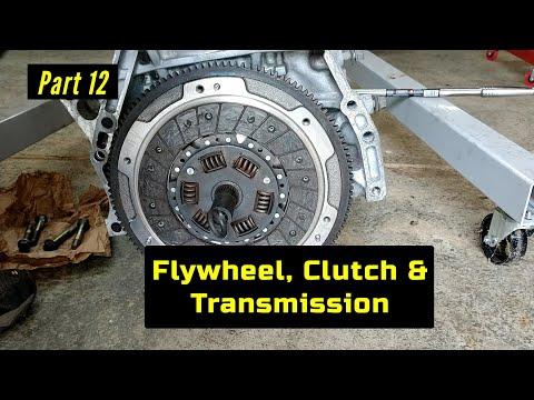 F23 Honda Accord Engine Rebuild Part 12: Flywheel, Clutch & Transmission