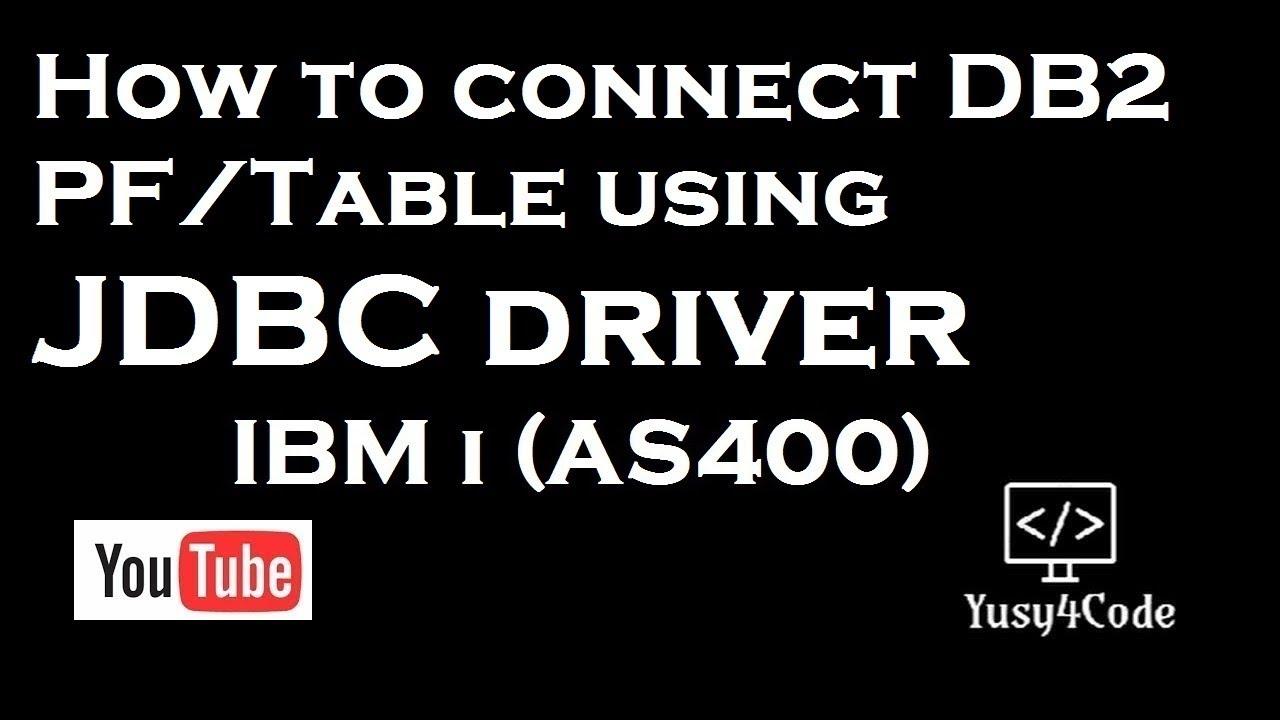 DB2 MAINFRAME JDBC TELECHARGER PILOTE