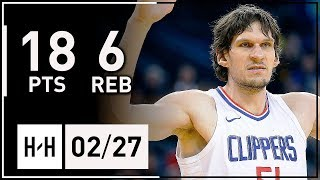 Boban Marjanovic Full Highlights Clippers vs Nuggets (2018.02.27) - 18 Points, 6 Reb