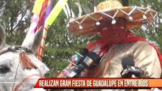 REALIZAN GRAN FIESTA DE GUADALUPE EN ENTRE RÍOS