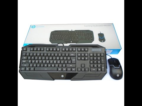Best Gaming Keyboard And Mouse For Only 14$ ( HP GK1000 Keyboard+Mouse )