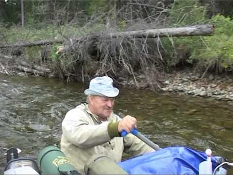 Рыбалка в Якутии, Учур, таймень 30кг, 1 часть