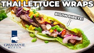 Thai Lettuce Wraps MADE WITH BISON! | Great Range Brand Bison