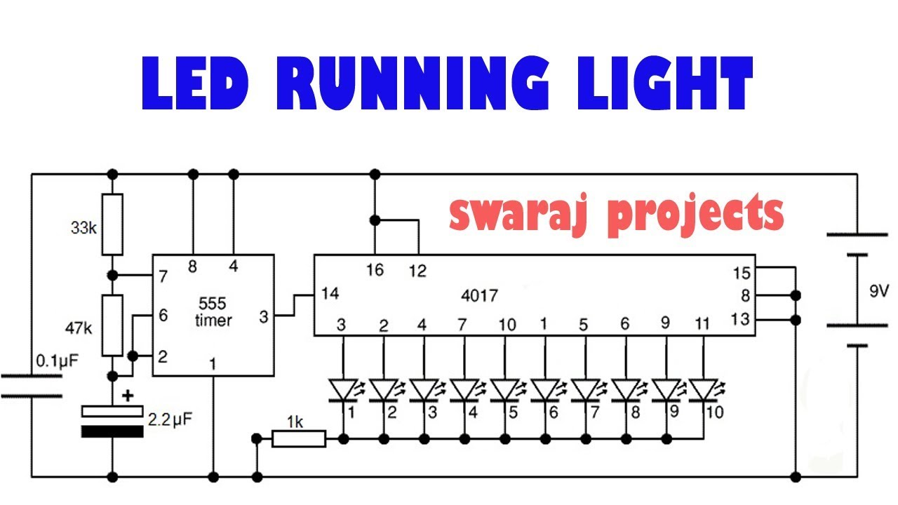 Led Driver | cd4017be circuits - YouTube
