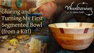 50 Woodturning my First Segmented Bowl - From a Kit!