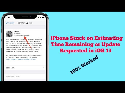 IPhone Stuck On Estimate Time Remaining Or Update Requested When Updating In IOS 13 - Fixed