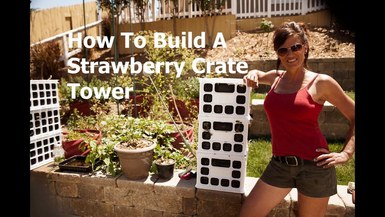 How To Build A Strawberry Crate Tower Youtube