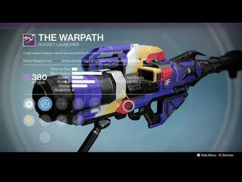 Destiny 1, Vendor & Faction Weapons (3-31-20)