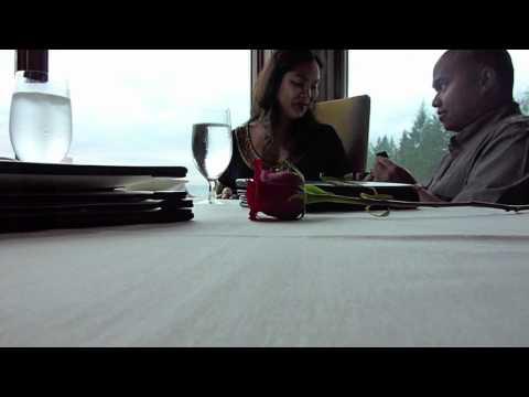 Wedding proposal at the Salish Lodge