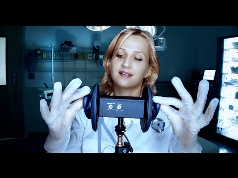 ASMR EAR Massage With MEDICAL Gloves: EMERGENCY Sleep Role Play