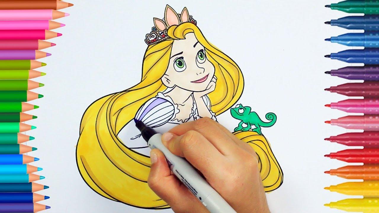 Prenses Rapunzel Boyama Kitabı Boyama Videoları Renkleri