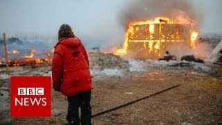 Dakota pipeline protesters leave site after year long occupation   BBC News