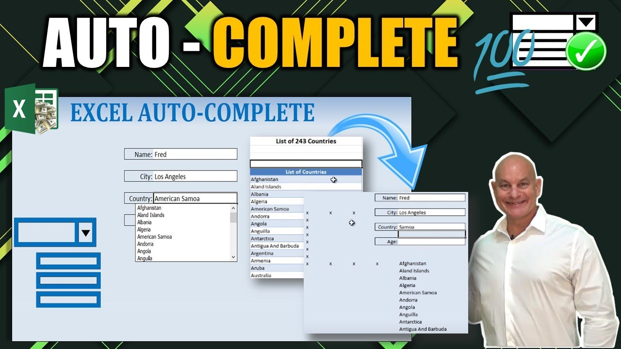 Learn How To Master Excel Auto Complete And Auto Fill With This Amazing Trick Youtube
