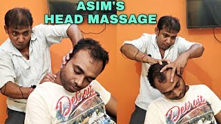 Amazing head massage by Indian barber at home | Stress relief Powerful ASMR