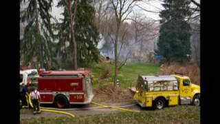 Dewy ave Structure & Brush Fire 4 9 2009 East Liverpool, Ohio
