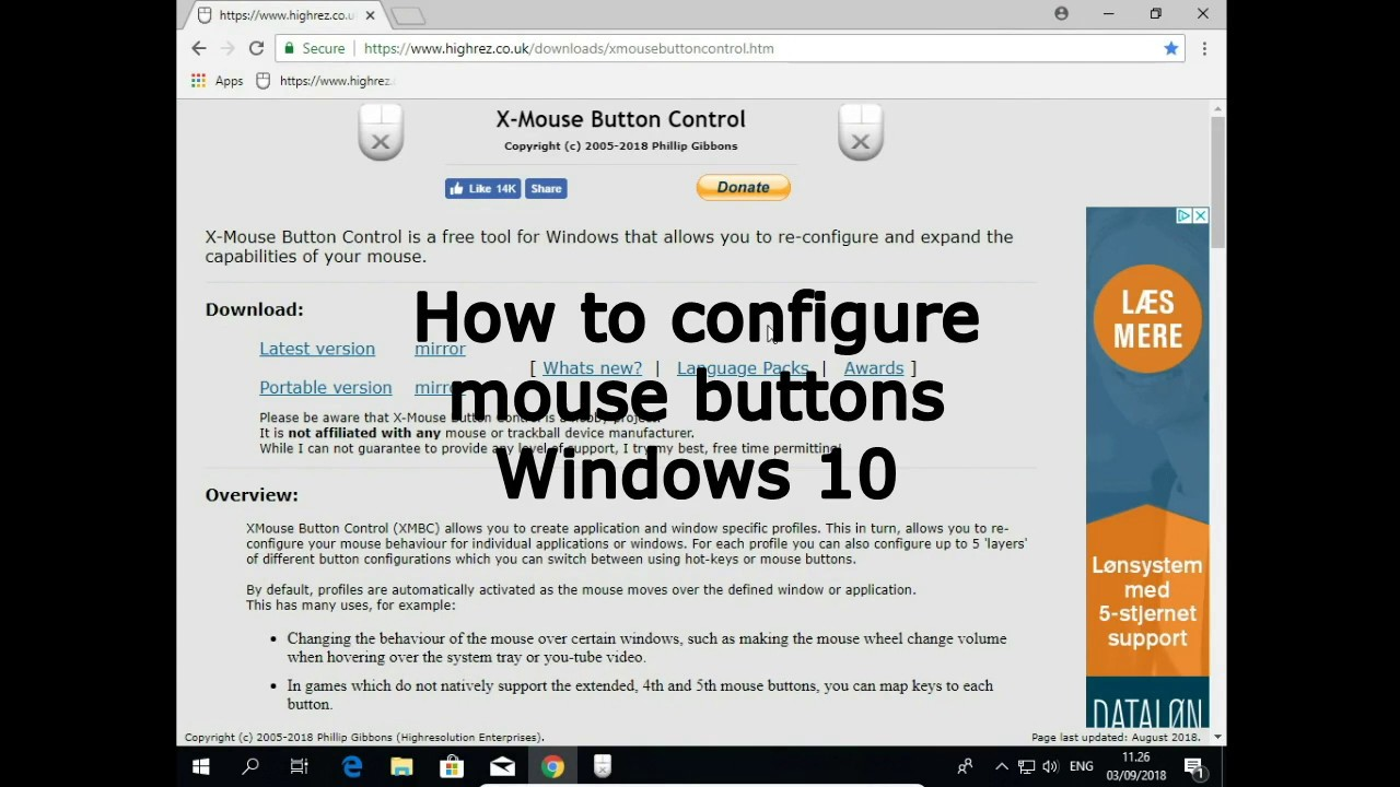 How to configure mouse buttons Windows 10