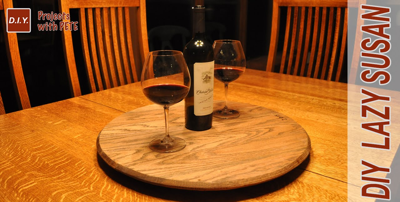 How To Make A Whiskey Barrel Lazy Susan Youtube