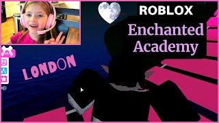 ENCHANTED ACADEMY WITH FUNNY BLOOPERS! Play Roblox with London! | SISTERS WHO GAME | Our Candid Kids
