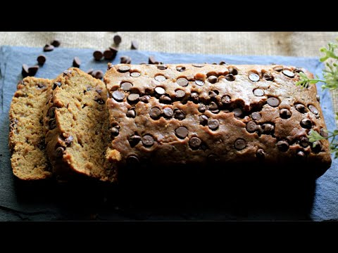Whole Wheat Chocolate Chip Zucchini Bread | Zucchini Loaf Cake | Healthy Bakes